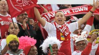 Fans of South African football club Ajax Cape Town