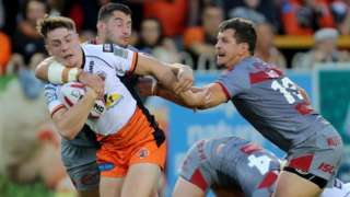 Jake Trueman scored the third of Castleford's four tries against the Challenge Cup winners