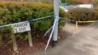 Scene of stabbing on Hardy Lane