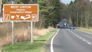 West Linton sign