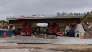 HS2 bridge being lowered