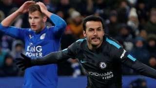 Pedro puts Chelsea into the FA Cup semi-finals