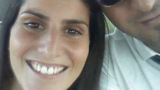 Cristina Rosi and her husband