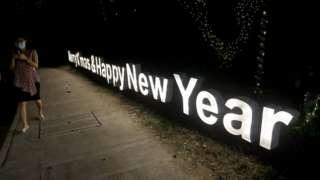緬甸仰光的聖誕新年燈飾