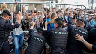 Акция протеста в Москве 27 июля