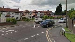 School Lane's junction with Birmingham Road