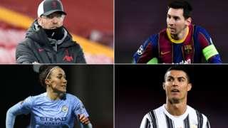 Jurgen Klopp, Lionel Messi, Lucy Bronze and Cristiano Ronaldo
