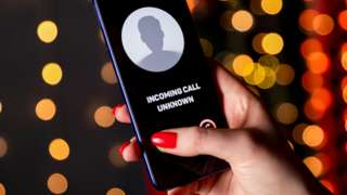 Unknown caller logo on phone