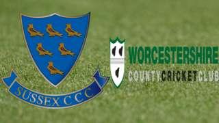 Sussex v Worcestershire badges