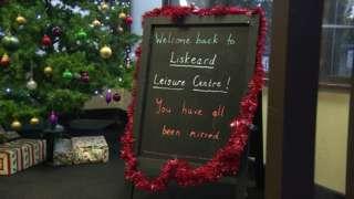 Liskeard Leisure Centre sign