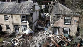 House collapse in Summerseat