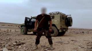Wagner fighter in Libya
