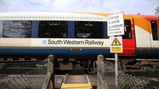 SWR train near Basingstoke