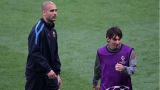 Pep Guardiola ve Lionel Messi