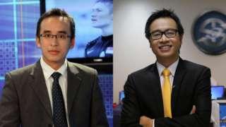 Tạ Biên Cương (phải) và Khắc Cường đã tạo ra phản ứng trái chiều với người hâm mộ khi bình luận trận đấu giữa ĐT Việt Nam và Indonesia vừa qua