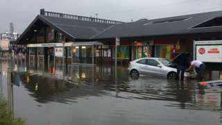 Flooded Didcot parkway