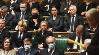 MPs sitting in the Commmons