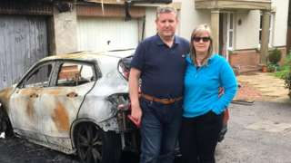 Councillor Graeme Campbell and his wife Fiona