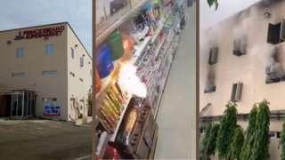 Ebeano supermarket Abuja Fire