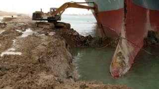 "Suez canal blockade: ""Ever Given"" ship blocking Suez canal"