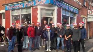 Staff at Victoria Fish Bar