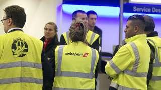 Swissport staff