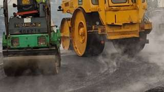 Road surfacing in Connah's Quay