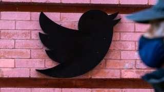 Sign outside Twitter's New York HQ