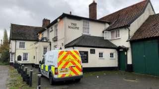The Magpie pub, Stonham