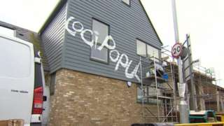 Graffiti being cleaned from homes in Chesterton