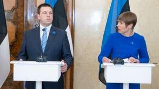 Премьер-министр Юри Ратас и президент Керсти Кальюрайд