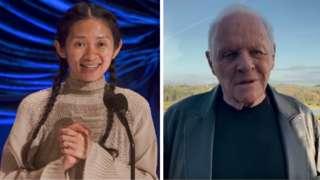 Chloe Zhao ve Anthony Hopkins