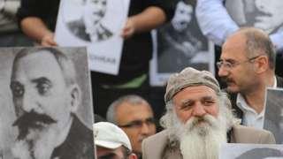 Акции памяти геноцида армян в Стамбуле