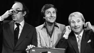 Des O'Connor often worked alongside comedians Eric Morecambe and Ernie Wise