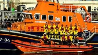 St Peter Port RNLI team. Pic: Tony Rive
