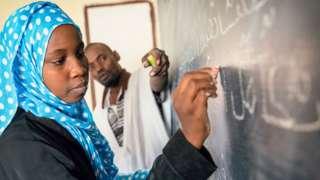Une école en Mauritanie