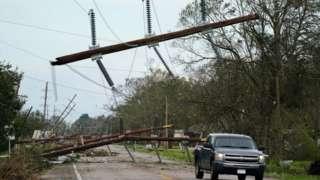 Опоры электропередач в Луизиане