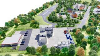 Plans for the Northern Ireland Fire and Rescue Service training facility in County Tyrone