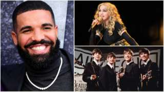 Drake, Madonna and The Beatles