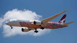 A Qantas charter flight brings home Australians trapped overseas during the pandemic