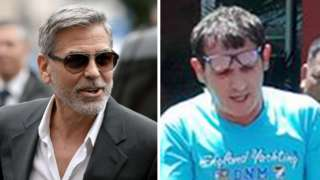 US actor George Clooney (L) and alleged Italian fraudster Francesco Galdelli
