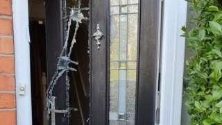 Smashed door