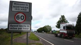 Sign at the Northern Ireland border