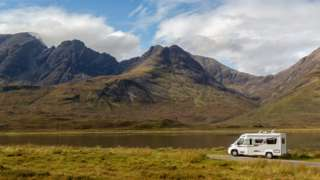 Campervan on Skye