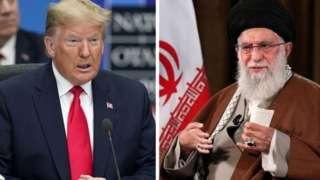 ABD Başkanı Trump (solda) ve İran dini lideri Ali Hamaney (sağda)