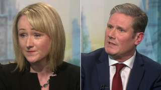 Rebecca Long-Bailey and Keir Starmer