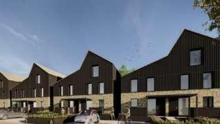 Artist impression of housing at the veterans' village