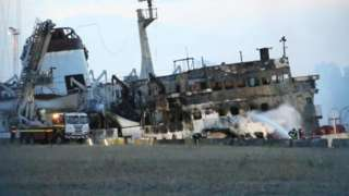 Aftermath of the blaze