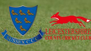 Sussex v Leicestershire badges
