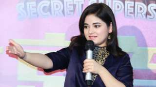 Actress Zaira Wasim attends 'Secret Superstar' press conference at Wanda Cinema on January 16, 2018 in Beijing, China